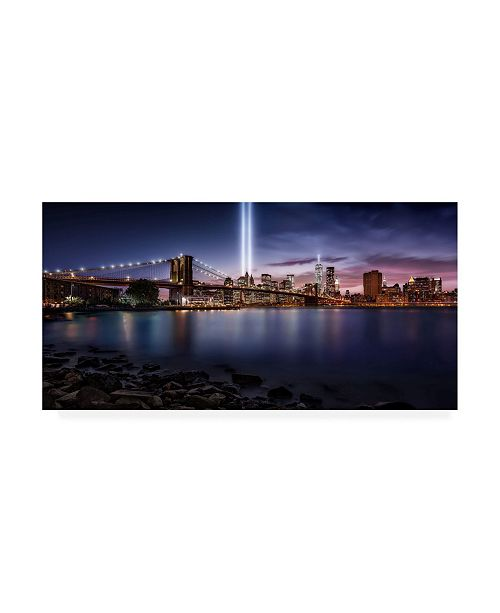 "Trademark Global Javier De La Unforgettable 9-11 Canvas Art - 15"" x 20"""