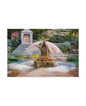 David Lloyd Glover Spring Fountain and Pond Canvas Art - 20