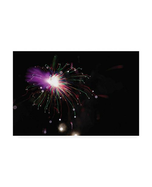 "Trademark Global Kurt Shaffer Abstract Fireworks in Technocolor Canvas Art - 37"" x 49"""