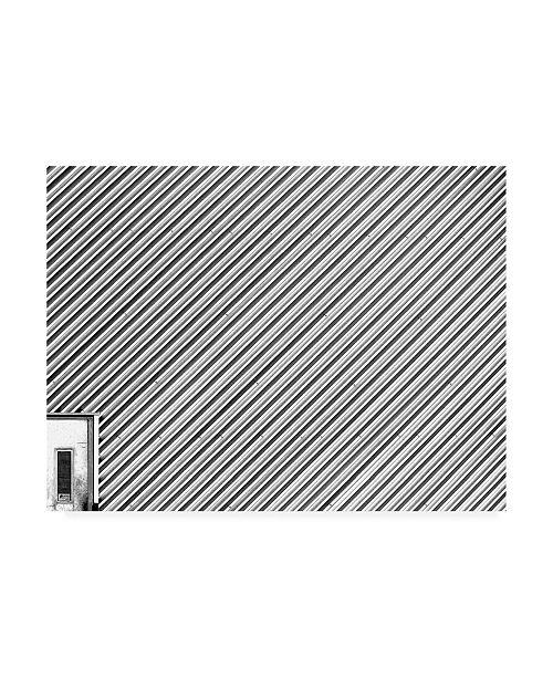 "Trademark Global Jian Wang White Diagonal Lines Canvas Art - 15"" x 20"""