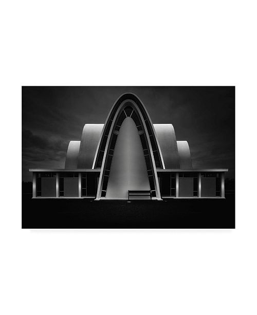 """Trademark Global Oliver Buchmann White Bowing Architecture Canvas Art - 15"""" x 20"""""""
