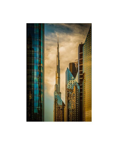 "Trademark Global Nicolas Tohme The Mighty Burj Canvas Art - 20"" x 25"""