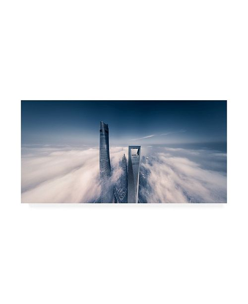 """Trademark Global Vview Chen Shanghai Tower Cutting Through Clouds Canvas Art - 15"""" x 20"""""""