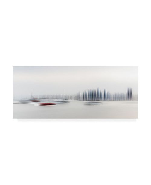 "Trademark Global Richard Adams Boats in the Harbor Canvas Art - 20"" x 25"""