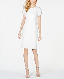Tulip-Sleeve Sheath Dress
