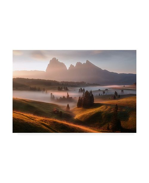 """Trademark Global Richard Beresford Harris First Light Fog Canvas Art - 37"""" x 49"""""""