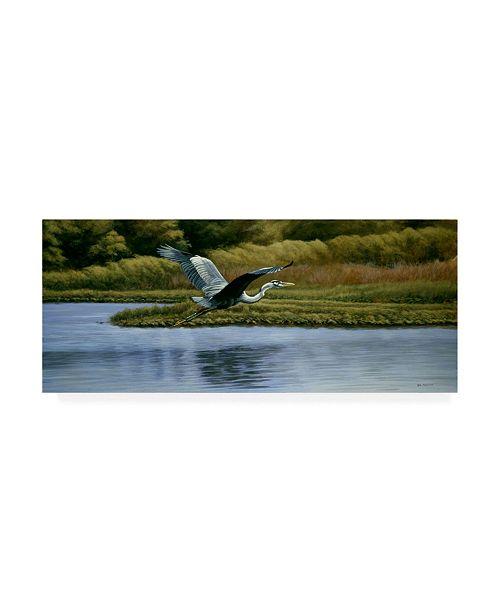 "Trademark Global Michael Budden Back Water Fisherman Canvas Art - 37"" x 49"""