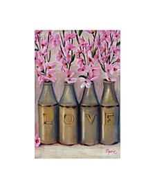 "Marnie Bourque Love Springtime Glass Jars Canvas Art - 37"" x 49"""