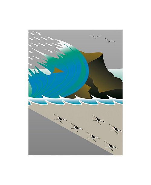 "Trademark Global Marie Sansone Wave and Cliff Canvas Art - 20"" x 25"""