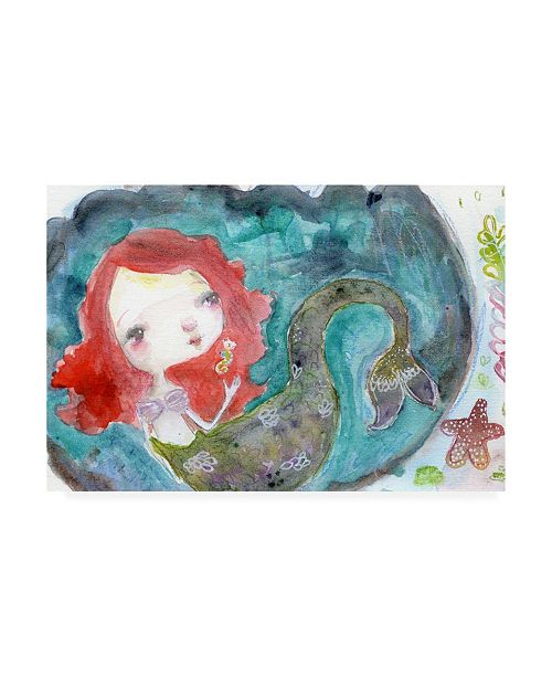 "Trademark Global Mindy Lacefield Serenity Mermaid Canvas Art - 20"" x 25"""