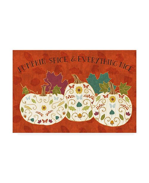 "Trademark Global Veronique Charron Autumn Otomi I Canvas Art - 20"" x 25"""