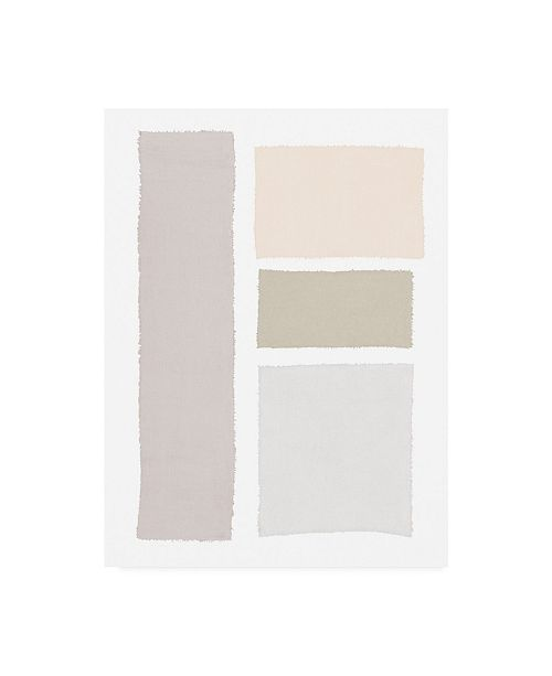 """Trademark Global Piper Rhue Painted Weaving III Neutral on White Canvas Art - 37"""" x 49"""""""