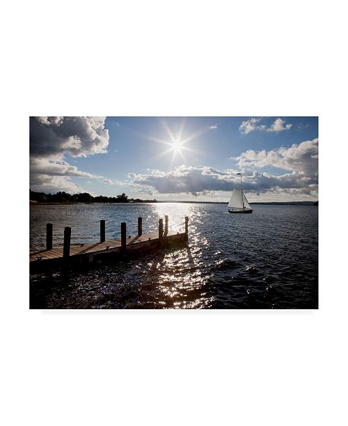 "Trademark Global Monte Nagler Sunrise at Crooked Lake Canvas Art - 20"" x 25"""