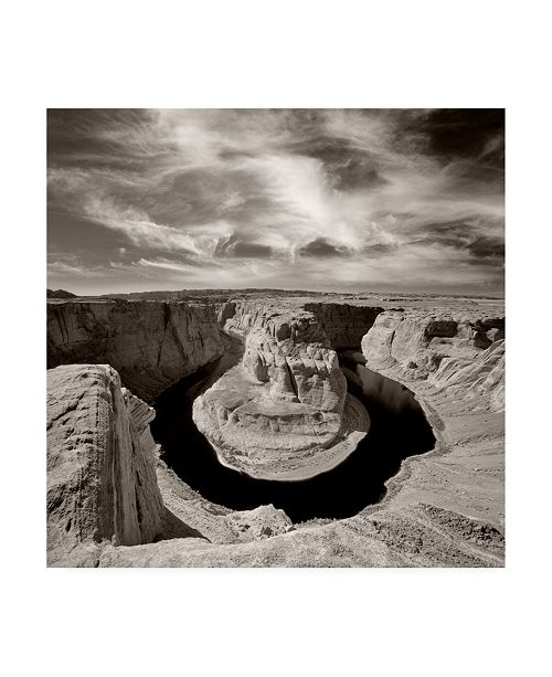 "Trademark Global Monte Nagler Horseshoe Bend and Clouds Page Arizona Canvas Art - 20"" x 25"""