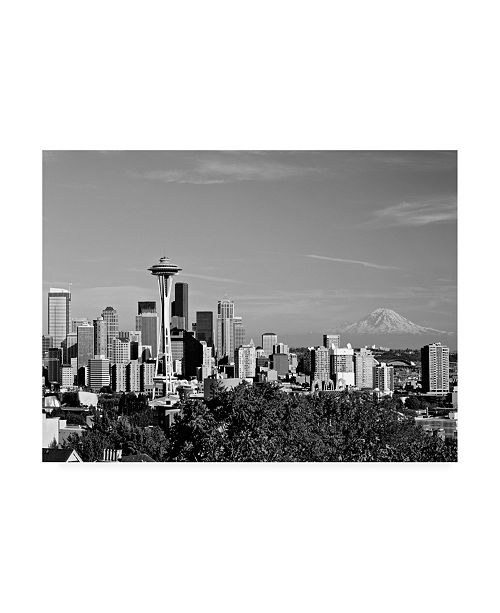 "Trademark Global Monte Nagler Seattle Cityscape Seattle Washington Canvas Art - 20"" x 25"""
