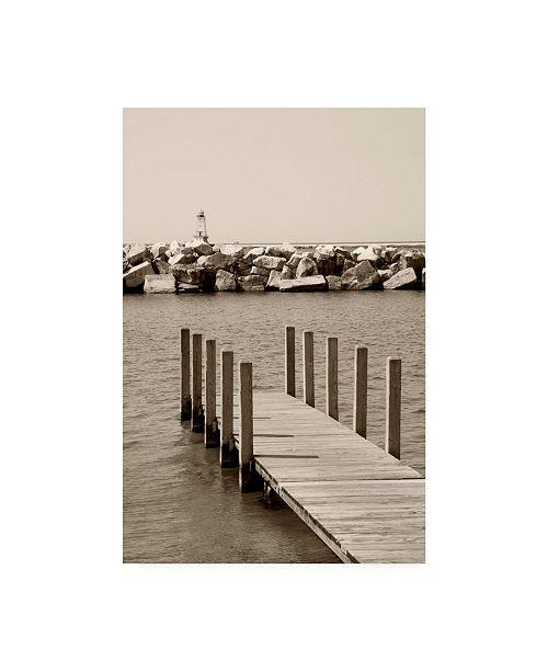 "Trademark Global Monte Nagler Pier Under Wave Break Canvas Art - 20"" x 25"""