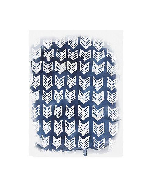 "Trademark Global June Erica Vess Indigo Batik Vignette IV Canvas Art - 20"" x 25"""