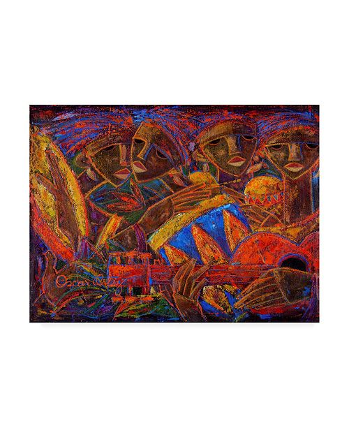"Trademark Global Oscar Ortiz Musas Del Caribe Canvas Art - 15.5"" x 21"""