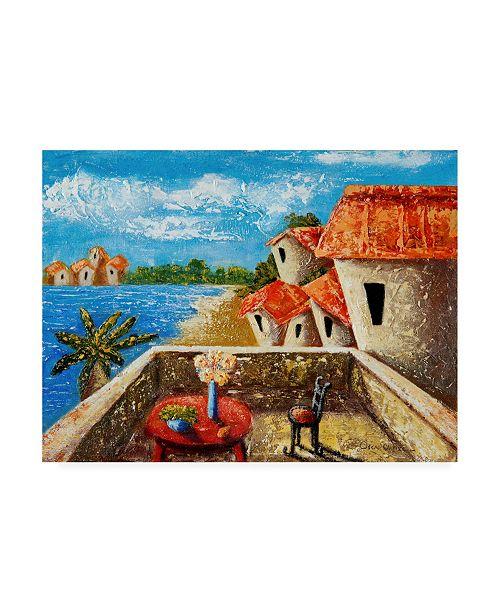 "Trademark Global Oscar Ortiz Playa Gorda II Canvas Art - 27"" x 33.5"""