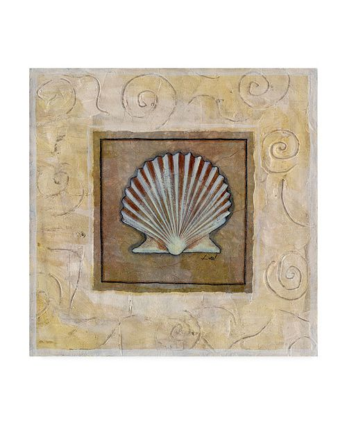 "Trademark Global Pablo Esteban Starfish on Blue Gray Canvas Art - 19.5"" x 26"""