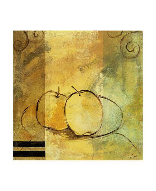 "Trademark Global Pablo Esteban Apple Line Art Abstract Canvas Art - 15.5"" x 21"""