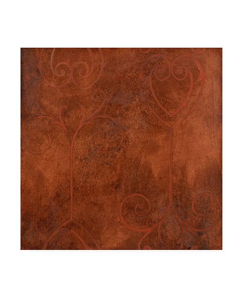 "Trademark Global Pablo Esteban Red Line Art Texture Canvas Art - 19.5"" x 26"""