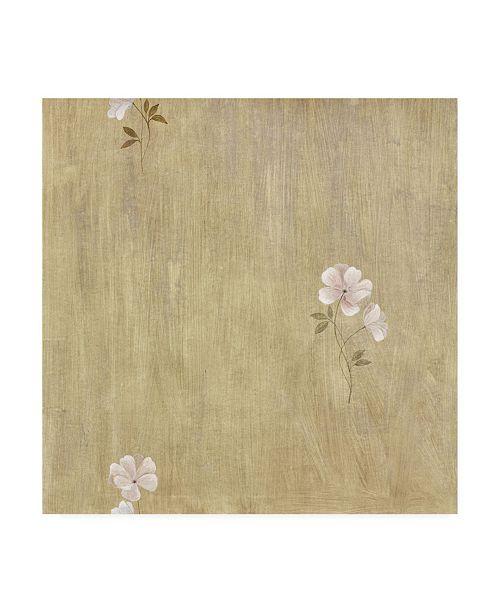 "Trademark Global Pablo Esteban Flower Pattern Beige Canvas Art - 19.5"" x 26"""