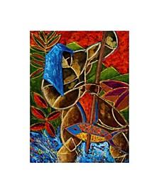 """Oscar Ortiz Guarani Hombre De Familia Canvas Art - 36.5"""" x 48"""""""