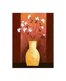 "Pablo Esteban Jug Floor Vase on Burgundy Canvas Art - 19.5"" x 26"""