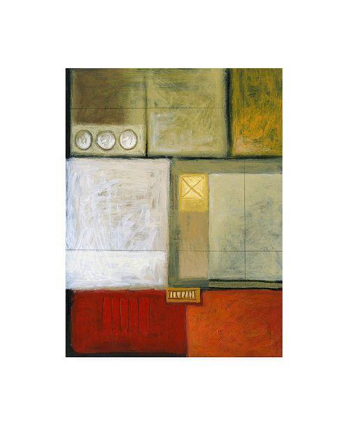 "Trademark Global Pablo Esteban Ladder Shape Pattern Canvas Art - 19.5"" x 26"""