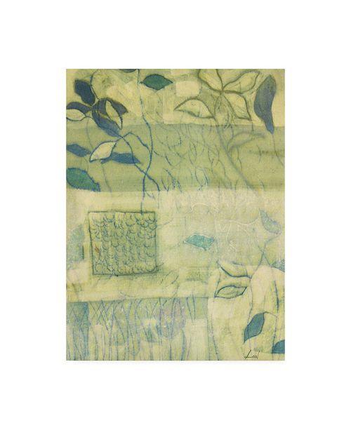 "Trademark Global Pablo Esteban White Flowers Watercolor Green Canvas Art - 27"" x 33.5"""