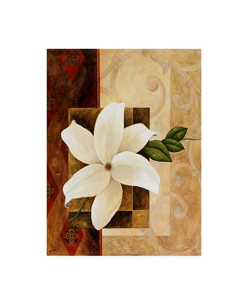 "Trademark Global Pablo Esteban White Floral Beige 2 Canvas Art - 36.5"" x 48"""