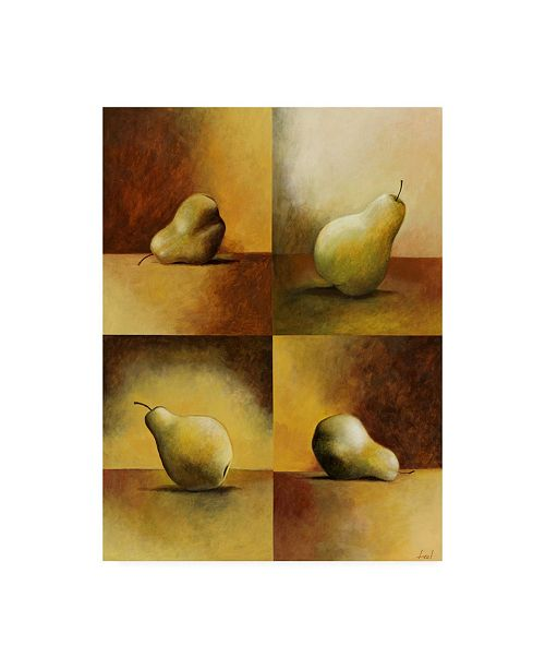 "Trademark Global Pablo Esteban Pears in Still Canvas Art - 15.5"" x 21"""