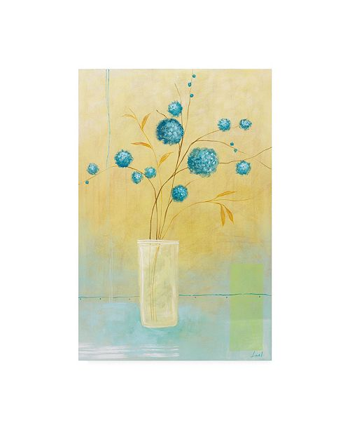 "Trademark Global Pablo Esteban Small Floral Vase 2 Canvas Art - 36.5"" x 48"""