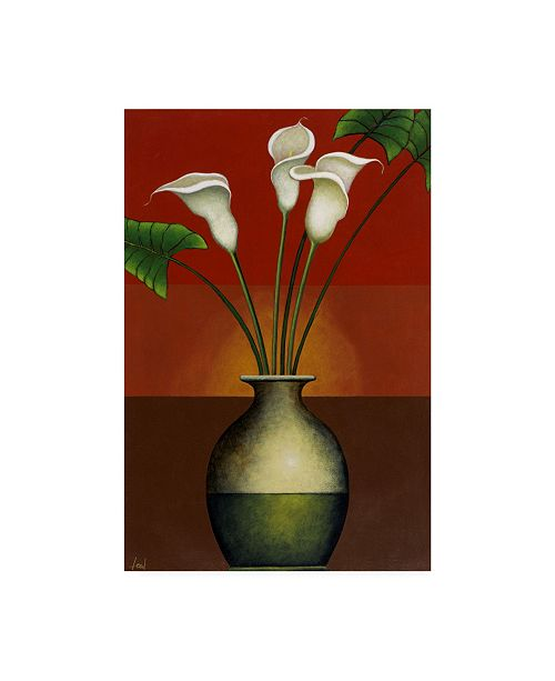 "Trademark Global Pablo Esteban Small Floral Vase 5 Canvas Art - 19.5"" x 26"""