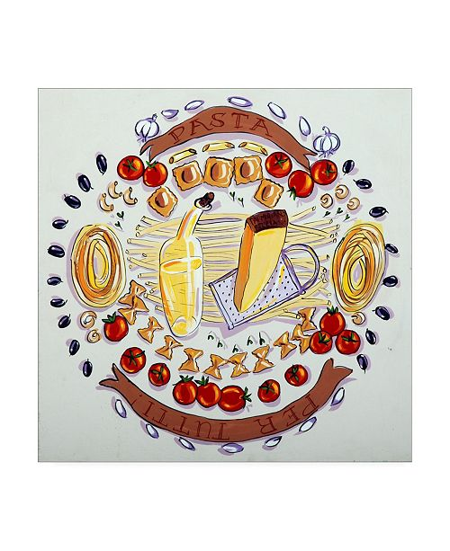 "Trademark Global Patricia A. Reed Pasta Per Tutti I Canvas Art - 15.5"" x 21"""
