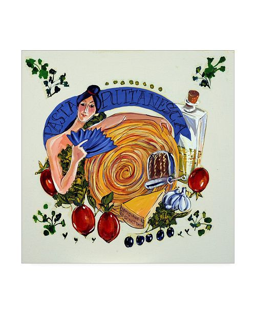 """Trademark Global Patricia A. Reed Pasta Puttanesca Canvas Art - 36.5"""" x 48"""""""