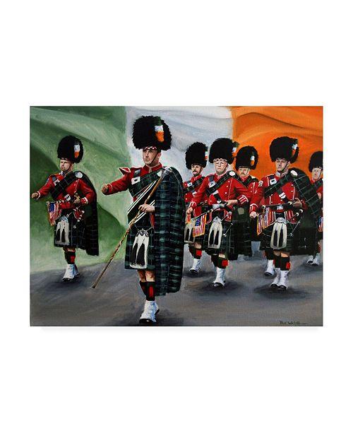 "Trademark Global Paul Walsh Fdny Bagpipe Band Canvas Art - 36.5"" x 48"""