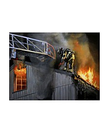"Paul Walsh Rusty Mystic Fire Canvas Art - 36.5"" x 48"""