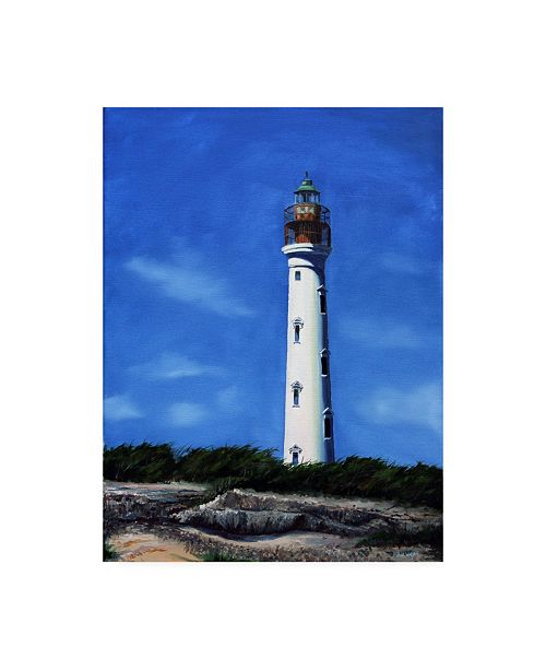 "Trademark Global Paul Walsh Aruba Lighthouse Canvas Art - 36.5"" x 48"""