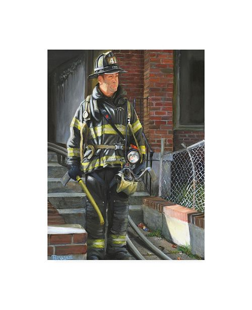 "Trademark Global Paul Walsh Fdny 41 Canvas Art - 36.5"" x 48"""