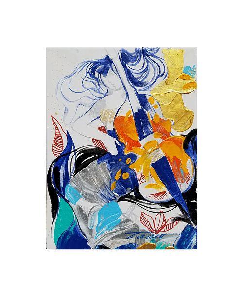 "Trademark Global Tadeo Zavaleta Viola Lesson Canvas Art - 19.5"" x 26"""