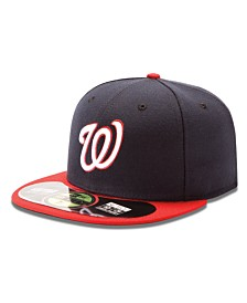New Era MLB Hat, Washington Nationals On Field 59FIFTY Fitted Cap