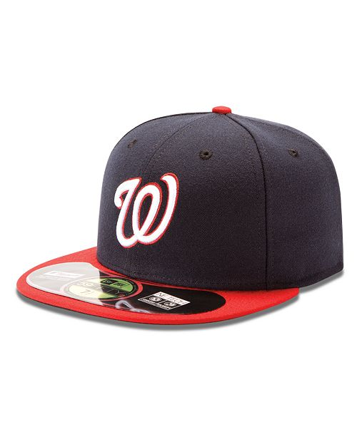 18f769c1 New Era MLB Hat, Washington Nationals On Field 59FIFTY Fitted Cap ...