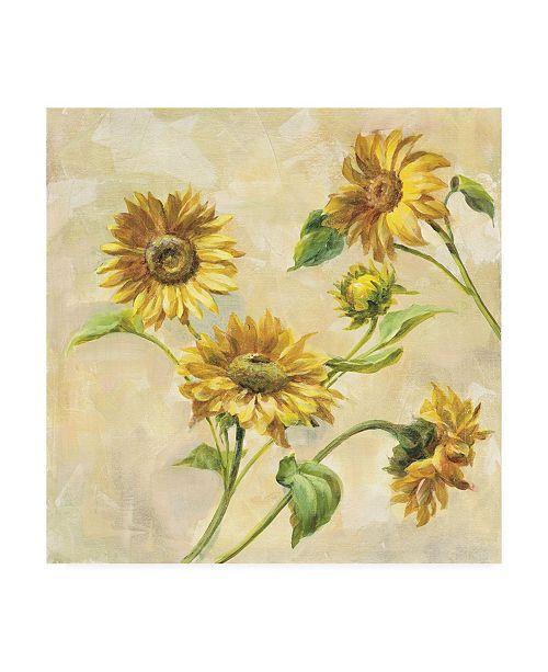 "Trademark Global Danhui Nai Farm Nostalgia Sunflowers Canvas Art - 15.5"" x 21"""