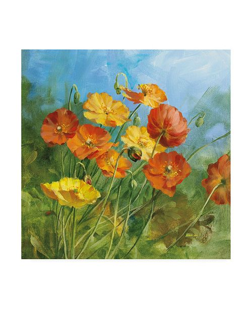 "Trademark Global Danhui Nai Summer Field IV Canvas Art - 36.5"" x 48"""