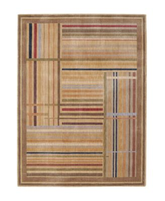 "CLOSEOUT! Area Rug, Somerset ST17 Lines Multicolor 3' 6"" x 5' 6"""