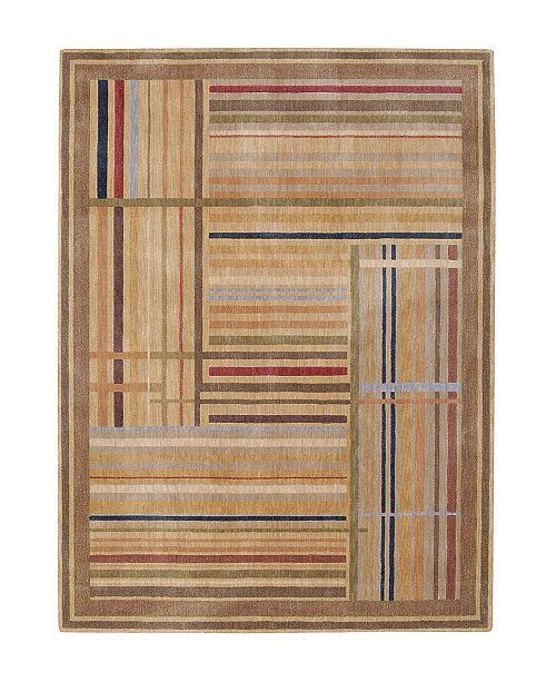 "Nourison CLOSEOUT! Area Rug, Somerset ST17 Lines Multicolor 7' 9"" x 10' 10"""