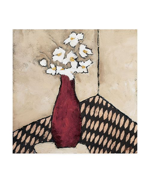 "Trademark Global Judi Bagnato Retro Red Vase Canvas Art - 15.5"" x 21"""