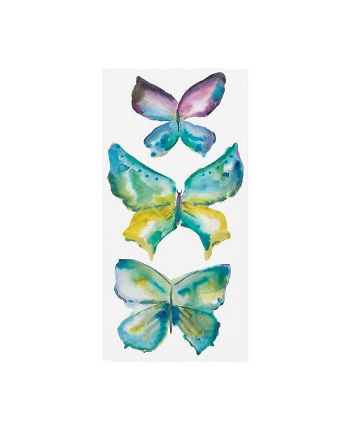 "Trademark Global Chariklia Zarris Jeweled Butterflies III Canvas Art - 27"" x 33.5"""